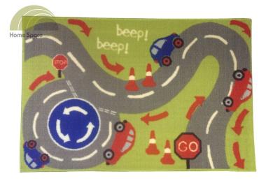 Kids Cars Play Mat Anti Slip Back Rug Boys Childrens Race Track 60 x 90cm New