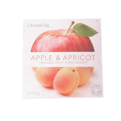 Clearspring | Apple & Apricot Puree - Org | 6 x 2x100g