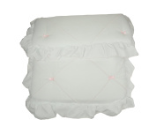 Kinder Collection Criss Cross Cosy Toes Foot Muff White Pink