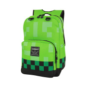 Minecraft Backpack Creeper Design Green