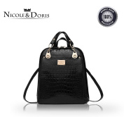 Nicole & Doris 2016 New trend backpack shoulder bag ladies/women dual-use college wind fashion travel bag