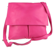 Girly HandBags Double Pocket Italian Leather Messenger Bag