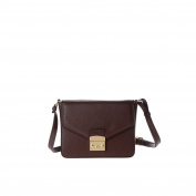 Shoulder bag women genuine leather made in Italy with strap and flap DUDU Sequoia