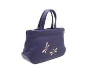 Mala Leather AZURE Collection Soft Leather Grab Bag With Shoulder Strap 783_81 Purple