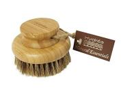 Hydrea Bamboo Round Body Brush with Mane & Cactus Bristle Medium/Hard Texture