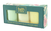 HAND MADE NATURAL SOAPS GIFT PACK by FAITH IN NATURE and FREE GIFT
