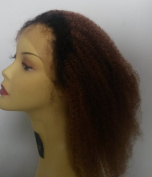 PrettyLoxx Brazilian Virgin Afro Curl Full Lace Unit- colour 1b/30