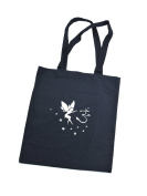 Tote bag shoulder cotton bag with Om Fairy / Cotton Short Handle Shopping Bag / Tote