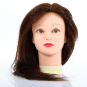 Betterhill Professional Hairdressing 100% Real Human Hair Training Mannequin Head Hairdresser Training Head With Clamp For College and Professional Use