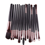 FEITONG 15 pcs/Sets Eyeshadow Eyebrow Lip Brush Makeup Tool BK