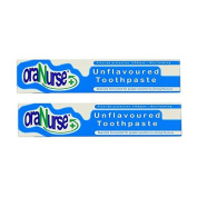 Oranurse 50ml Unflavoured Toothpaste Pack of 2