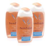 3x Femfresh Daily Intimate Hygiene Wash Soap Free 150ml Lightly Fragranced