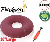 Penkwin®   Medical Grade   46cm Inflatable Ring Cushion   Free Pump   Comfortable Medical Pillow Bed Sores, Haemorrhoid Pain, Coccyx & Tailbone Pain, Pilonidal Cyst, Perinea Pain, Pregnancy, Child Birth, Prostatitis etc   Great for Wheelchairs