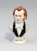 Bust Schubert Bisquit Painted