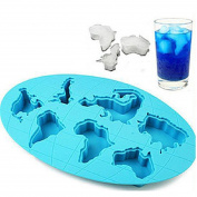 Continents Mould Silicone Ice Tools Chocolate Ice Mould Random Diy home
