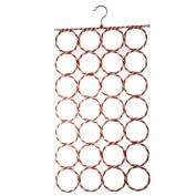 Honearn 28-hole Ring Rope Slots Holder Hook Scarf Hanger Storage Organiser