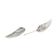 RichBest 1 Pair Angel Wings Feather Alloy Nipple Shields Ring Bar Barbell Fashion Body Piercing Jewellery