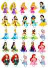 25 x DISNEY PRINCESS Edible Wafer Peper Cup Cake Stand up Toppers image BB