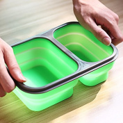 EQLEF® Silicone Bento Lunch Box Collapsible, Airtight Food Storage Containers, Dishwasher & Microwave Safe