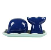 Blue Whale Salt & Pepper Shaker Set by Sass & Belle
