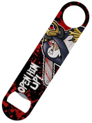 Psycho Penguin Open Him Up Bar Blade Bottle Opener 18x4cm