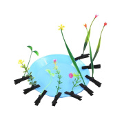 ANDAY 10 pcs Unisex Cut Plants Grow On Head Hair Clips Funny Fifts