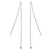 iszie Jewellery Sterling Silver 4mm Ball Stud Pull Through Earrings