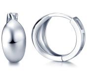 Infinite U Simple Smooth Polish Hoop 925 Sterling Silver Women Earrings