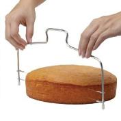 Yontree Functional Stainless Steel Adjustable Baking Bread Cake Layered Cutter Cake Slicer Leveller