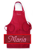 Apron for Children with Name or Word of Choice Quality Embroidery Choice cherry communication Name, see product description