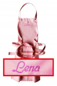 Apron for Children with Name or Word of Choice Quality Embroidery Choice Pink notification Name; see product description
