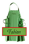 Bib Apron with Name or Word of Choice Quality Embroidery Choice of Colour Made in Germany Jade