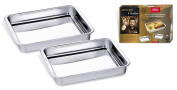 Inoxibar Roasting Oven Dish - Set of 2 - of 30 and 35cm Stainless steel