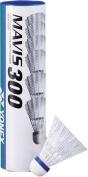 Yonex Mavis 300 Racquet Sports Match Play White Badminton Shuttlecocks Tube Of 6