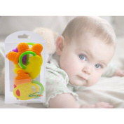 Lexitek organic Baby Teething Toys Best Infant & Toddler Teething Pain Relief- Non-Toxic,100% Safe BPA Free Fruit Teethers Fruity Chews Ring Teethers 3 Months Plus Soft Teether Toys