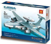 KJ2000 AirBorne Early Warning & Control system - 202 pcs building blocks radar plane assembly, scaled down to 1:100 ratio of actual AEW & C - a model of choice for a 6+ aviator in . parts