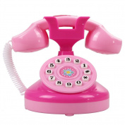 Demiawaking Educational Emulational Pink Phone Pretend Play Toys Girls Toy Gifts