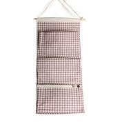 Linen/Cotton Fabric Wall Door Closet Hanging Storage Bag Books Organisational Back to School Office Bedroom Kitchen Rectangle 3 Pockets Home Organiser Gift ,30cm W x 70cm H