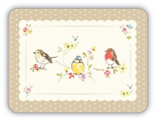 Cooksmart Dawn Chorus Placemats, Multi-Colour, Pack of 4