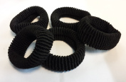 Hair Ponios Donuts Bobbles Large Bands Black Colour pack of 5