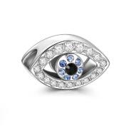 Soufeel 925 Sterling Silver Evil Eye Charm Fit Brands Charm European Charms Bracelets