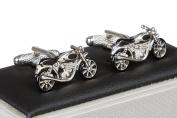 Motorbike Cufflinks - Motorcycles Cufflink Supplied in Onyx Art Cufflink Box
