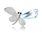 ufengke® Austrian Crystal Fine Butterfly Brooches White Gold Plated Women Girls Gift