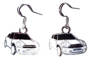 Juicy Jewellery 925 Sterling Silver & Enamel Black & White Car Earrings Matching Necklace Also Available
