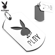Two Tone Cut Out Stainless Steel Playboy Logo Pendant Dimension