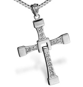 Mens Cross Necklace Pendant Chain Crucifix Fast And The Furious movie