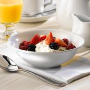 Royal Genware Oatmeal Bowls 16cm - Pack of 6 | White Bowls, Porcelain Bowls, Breakfast Bowls, Cereal Bowls, Porridge Bowls