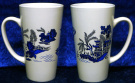Blue Willow latte mug large blue willow ceramic latte mug 3/4pt capacity