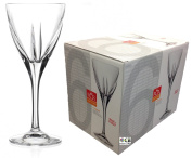 Rcr Crystal Fusion Set Of 6 Crystal White Red Wine Tall Stemmed Cups Glasses