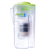 Water Filter AcalaQuell One Water Filter Jug | Light Green | Highest Filtration Performance | Multi-Layered Filter Cartridge | PI-Technology | Sponge Filter | Water Filter System | Principles of nature | intense R & D. Creates delicious-tasting and hea ..